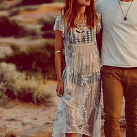 Free People Journey Embellished Slip