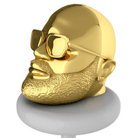 Rick Ross Gold Tone Coin Bank