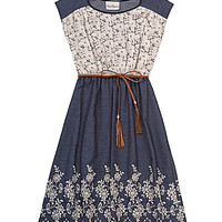 Rare Editions 7-16 Lace/Floral-Embroidered Dress | Dillards.com