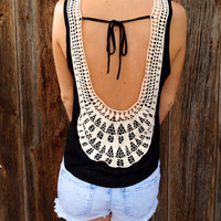 Crochet Low Back Tank