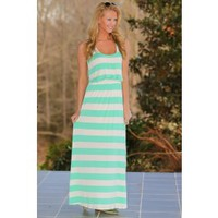 The Longest Story Maxi Dress-Mint
