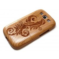 Wooden Samsung Galaxy S3 case - Flower