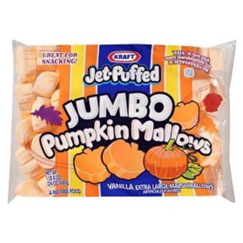 Kraft Jet-Puffed Jumbo Pumpkin Mallows Marshmallows 24 oz