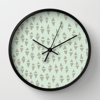 mind mountains Wall Clock by austeja saffron