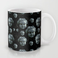 Evil Child Expression Pattern Mug by Danflcreativo