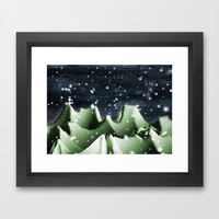 Winter Snow Landscape Framed Art Print by Danflcreativo