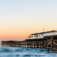 Crystal Pier Dawn Photograph by Priya Ghose - Crystal Pier Dawn Fine Art Prints and Posters for Sale