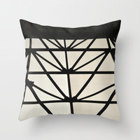 Abstract Construction  Throw Pillow by Sari Klein
