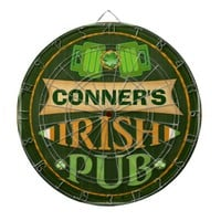 Personalized St. Patrick's Irish Pub Dart Board