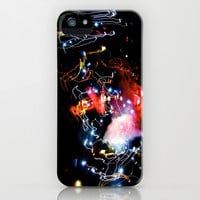 galaxy rave lights  iPhone & iPod Case by Sari Klein