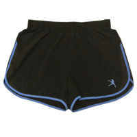 Girls Lacrosse Run Shorts in Black | Lacrosse Unlimited