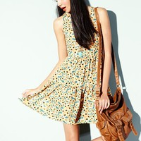 Band of Gypsies Cross Back Floral Print Tank Dress (Juniors) | Nordstrom