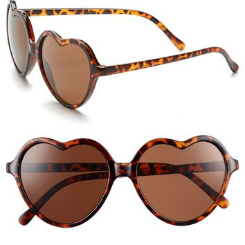 BP. 'Luv' Tortoiseshell Heart Sunglasses (Juniors) | Nordstrom