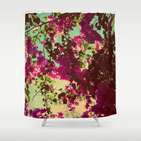Bougainvillea Shower Curtain by Yoshigirl