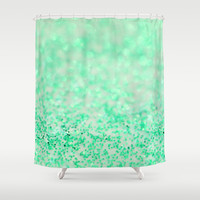 Sweetly Mint Shower Curtain by Lisa Argyropoulos
