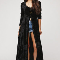 Saltwater Gypsy Vintage Velvet Long Sleeve Duster Dress at PacSun.com