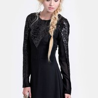 Young Love Sequined Dress By Keepsake | Threadsence