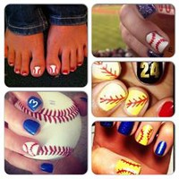 - Softball / Baseball Nail Stickers #