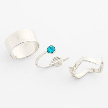 Leith Midi Rings (Set of 3) | Nordstrom