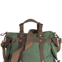 ModCloth Scholastic In the Event of Adventure Bag in Moss
