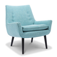 Jonathan Adler Mrs. Godfrey Chair In Cashin Ocean in In Stock And Casegoods