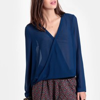 Sea Serpent Draped Blouse | Threadsence
