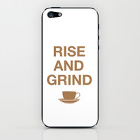 Rise and Grind iPhone & iPod Skin by CAPow!