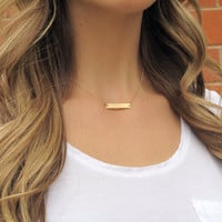 SHOP SALE - Personalized 14k Gold Fill Nameplate Necklace