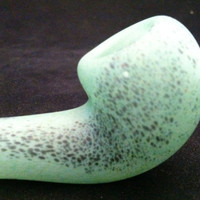 Aqua Glass Pipe , Frosted Ocean Glass Briar Pipes