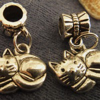 Kitty Cat Charm for Pandora Bracelet | asterling - Jewelry on ArtFire