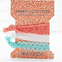Lace Hair Elastic Bands in Pastel - Urban Outfitters