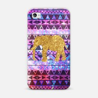 Gold Elephant Pink Nebula Space Aztec Pattern | Design your own iPhonecase and Samsungcase using Instagram photos at Casetagram.com