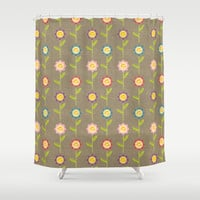 Flower Garden Shower Curtain by Lisa Marie Robinson