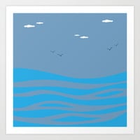 I Dream of Sea Art Print by Texnotropio