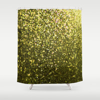 Mosaic Sparkley Texture Gold G188 Shower Curtain by MedusArt