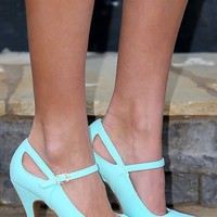Working Up The Courage Heels-Mint