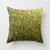 Mosaic Sparkley Texture Gold G188 Throw Pillow by MedusArt