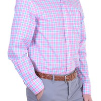 Men's Shirt - Pink Checks - Gant