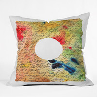 Susanne Kasielke Vintage Note Throw Pillow