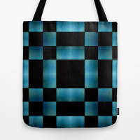 Square Dark Pattern Tote Bag by Danflcreativo