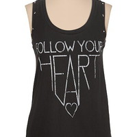 follow your heart studded tank