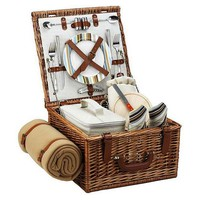 Cheshire Basket & Blanket for 2, StripesPICNIC AT ASCOT