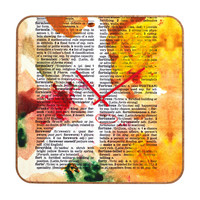 Susanne Kasielke Fortunate Dictionary Art Custom Clock
