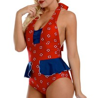 Mazie Life Ring Swimsuit by Fables by Barrie (Red)