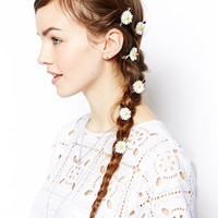 ASOS Pack of 10 Daisy Hair Clips