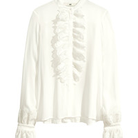 Frilled blouse - from H&M