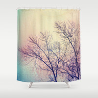 Trees Shower Curtain by Yoshigirl