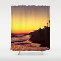 Sunset Shower Curtain by Yoshigirl