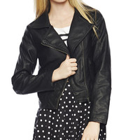 Smocked Back Moto Jacket | Wet Seal
