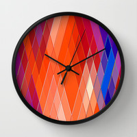 Re-Created Vertices No. 18 Wall Clock by Robert S. Lee